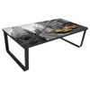 Picture of Living Room Coffee Table Rectangular Side Table Sofa Table Print on Glass