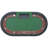 Picture of 10-Player Poker Table with Dealer Area and Chip Tray Green