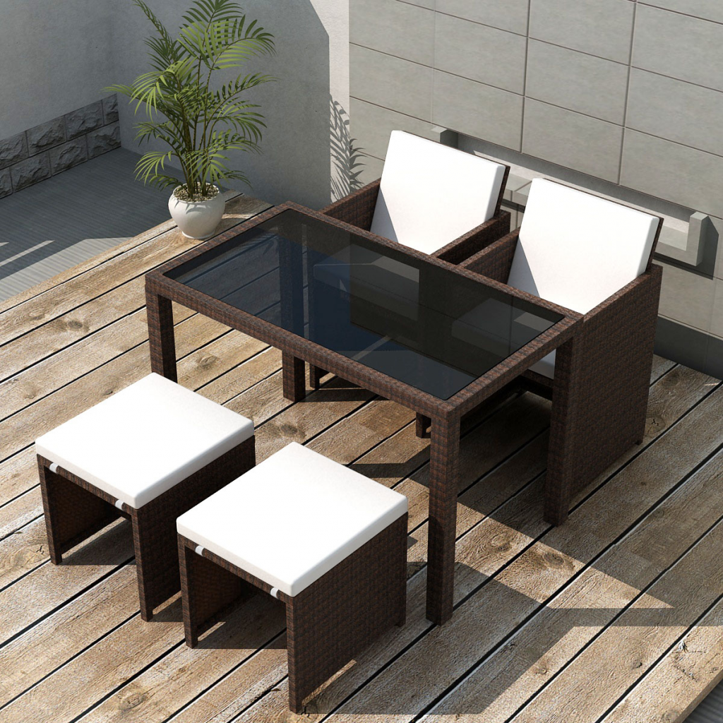Picture of Outdoor Dining Set - Brown