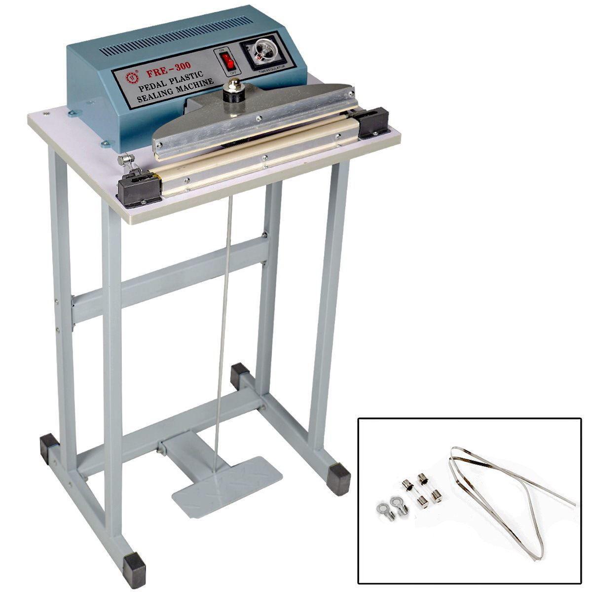 "Picture of 110V 12"" Heat Sealer Foot Pedal Impulse Plastic Bag Sealing Machine"