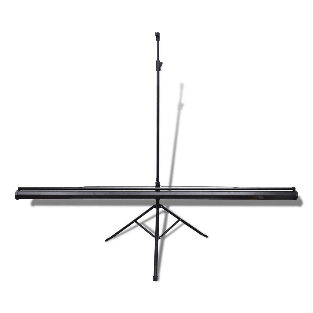 """Picture of 111"""" 1:1 Portable Manual Projection Screen / Height Adjustable Tripod Stand"""