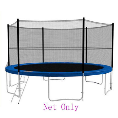 Picture of 12 ft Trampoline Enclosure Safety Net 8 Pole Round Frame