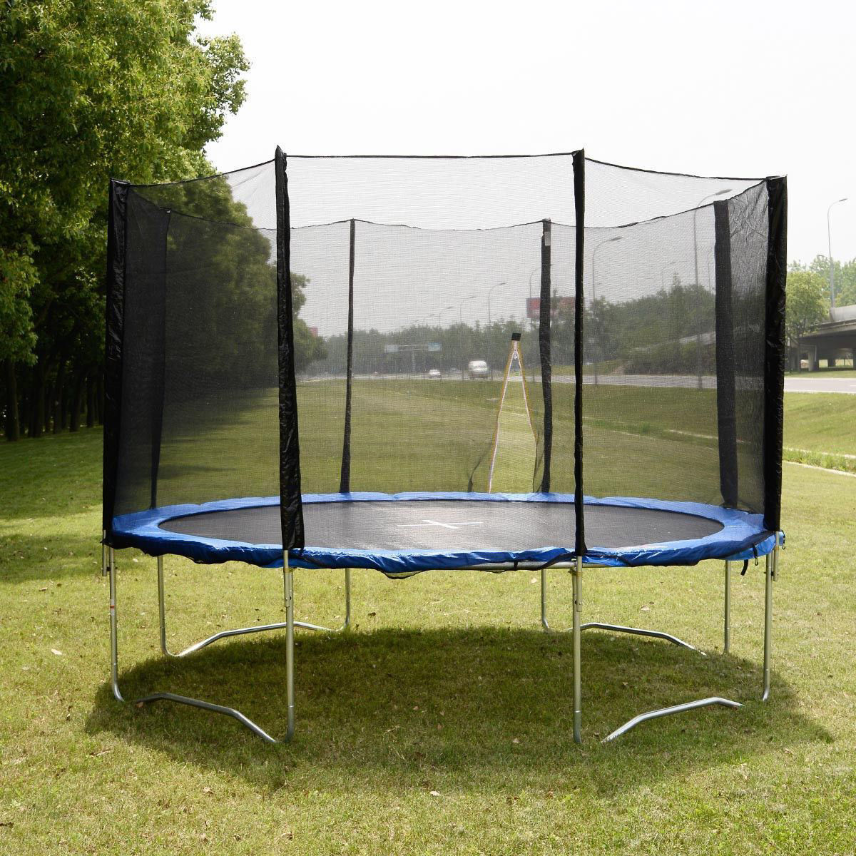 Picture of 14 FT Trampoline Combo Bounce Jump Safety Enclosure Net with Spring Pad Round