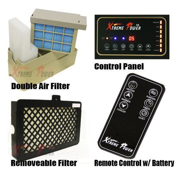 Picture of 1500W 4 in 1 Infrared Heater Air Purifier