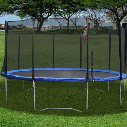 Picture of 16FT Trampoline Combo Bounce Jump Safety Enclosure Net with Spring Pad Round
