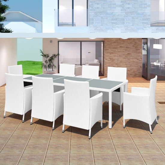 Picture of Outdoor Dining Set - Cream White
