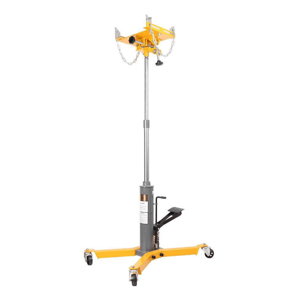 Picture of 2 Stage Hydraulic Transmission Jack 1500 lbs with 360° Swivel Wheels Lift Hoist - Yellow