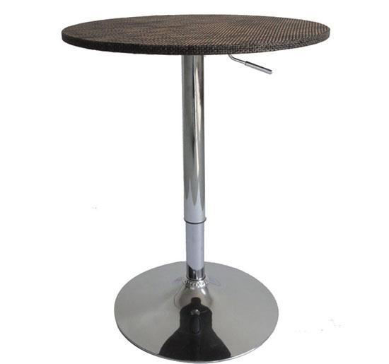 """Picture of 24"""" Modern Adjustable Bar Table Stand Bistro Bar - Rattan Wicker"""