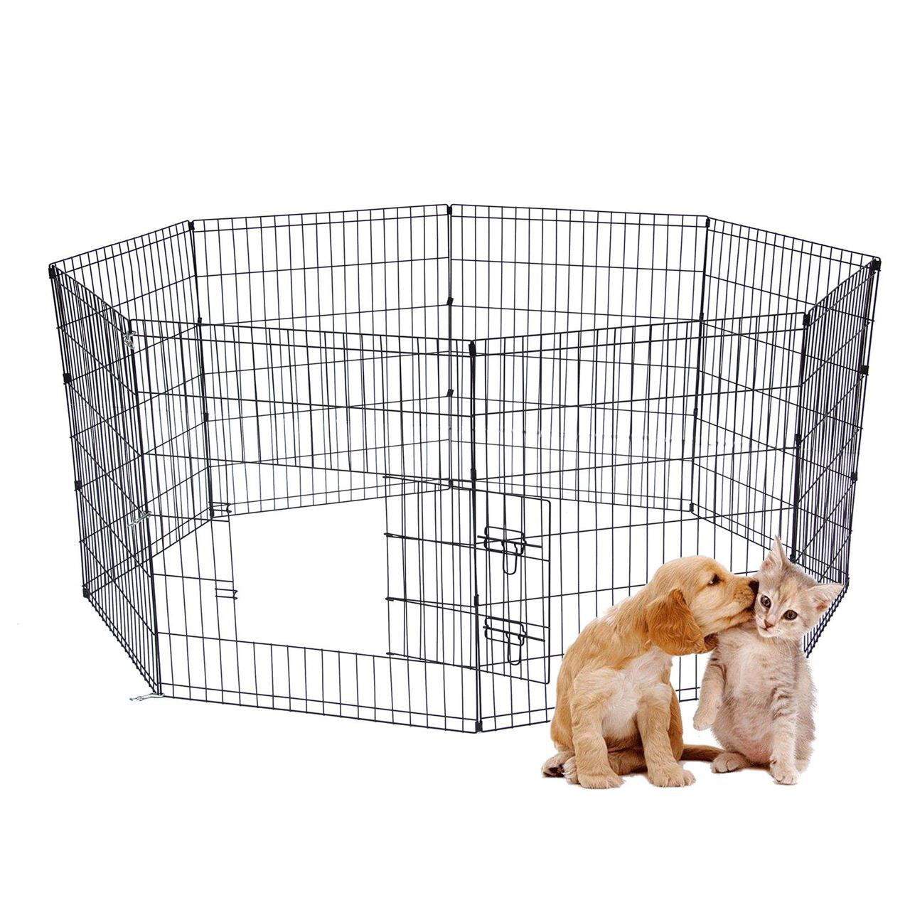 """Picture of 24"""" Puppy Pet Dog Play Pen Kennel Cage"""