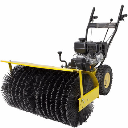 "Picture of 31"" Industrial Power Brush Broom Walk Behind Snow Sweeper Gas Engine 7hp"