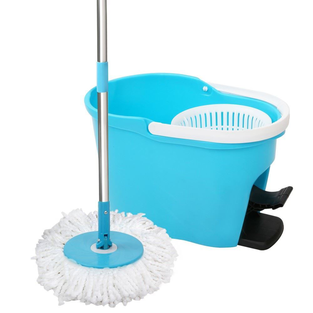Picture of 360 Degree Spin Mop and Bucket Set with FREE 2 mop heads