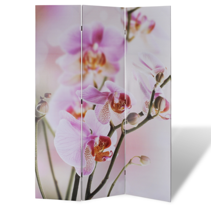 "Picture of 3-Panel Room Divider Folding Double Sided Screen Flower Print 47.2"" x 70.9"""