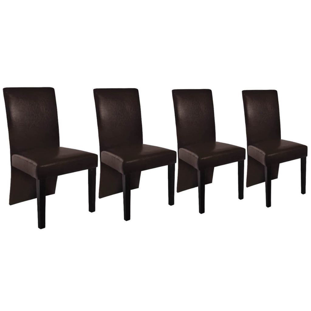Picture of 4 x dining room chair brown