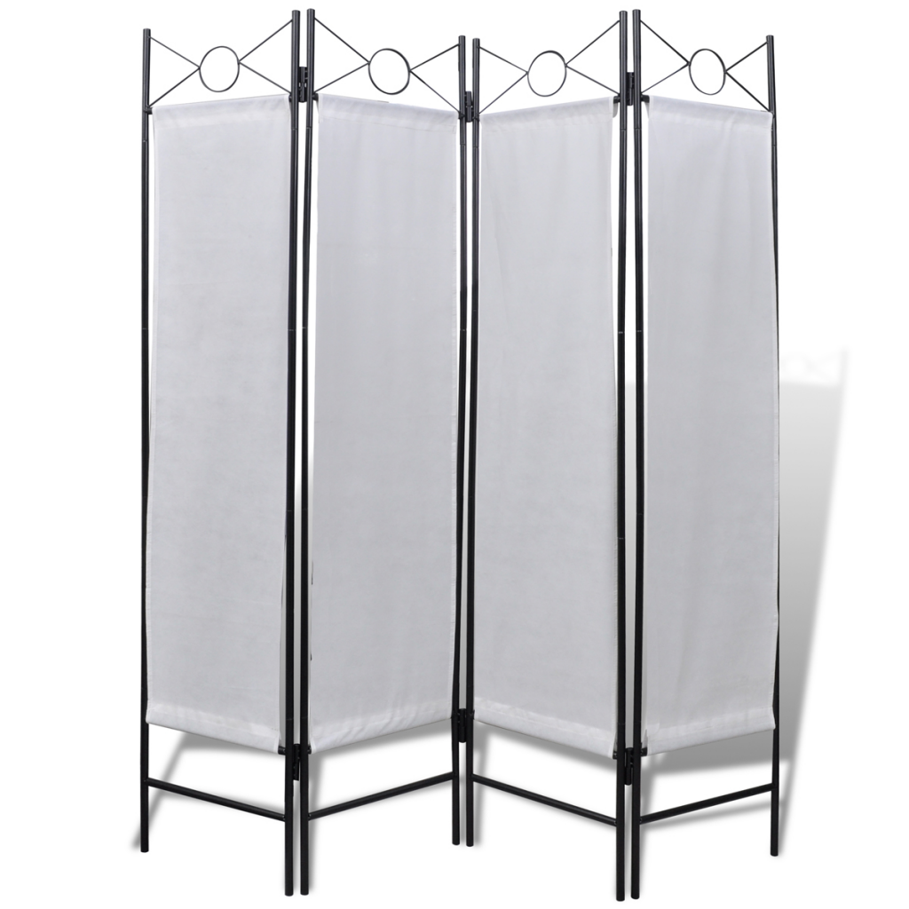 "Picture of 4-Panel Room Divider Privacy Folding Screen White 5' 3"" x 5' 11"""
