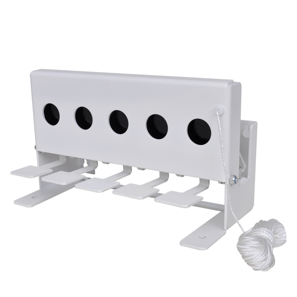Picture of 5-hole Biathlon Knockdown Target with Reset Cord