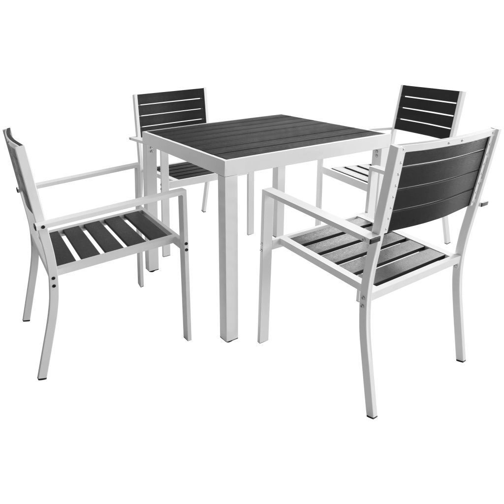 "Picture of 5pc Outdoor Dining Set 31"" - Aluminum WPC"