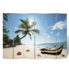 """Picture of 6-Panel Room Divider Folding Double Sided Screen Beach Print 94.5"""" x 70.9"""""""