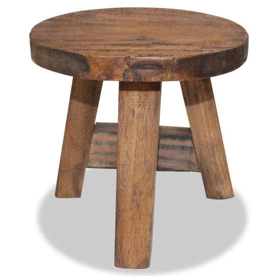"""Picture of 7"""" Stool - Solid Reclaimed Wood"""