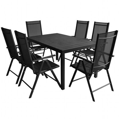 Picture of 7pc Outdoor Dining Set - Aluminum - WPC