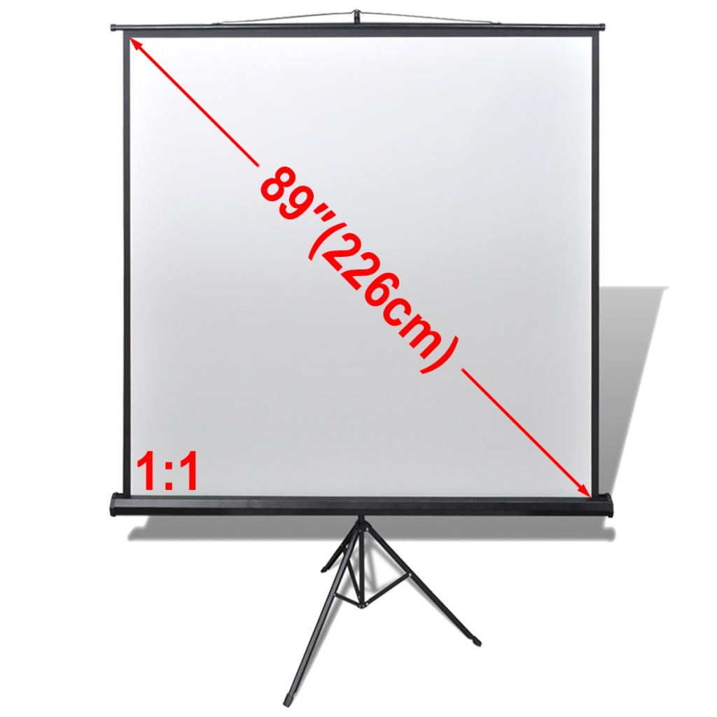 """Picture of 89"""" 1:1 Manual Projection Screen with Height Adjustable Stand"""