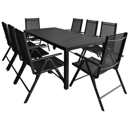 Picture of 9pc Outdoor Dining Set - Aluminum - WPC