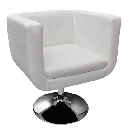 Picture of Adjustable Modern White & Chorme Colour Bar Stool