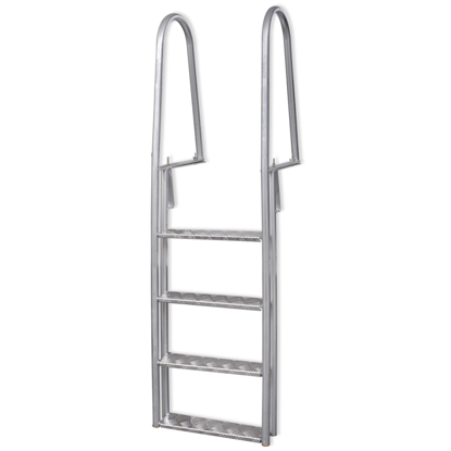 Picture of Aluminum Frame Dock and Pool Ladder with Non-Slip Steps