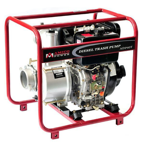 """Picture of AMICO Power 4"""" Diesel Trash Water Pump"""