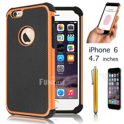 "Picture of Apple iPhone 6 4.7"" 6 Plus 5.5"" Black Rugged Rubber Matte Hard Case Cover"