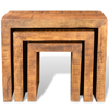 Picture of Antique-style Mango Wood Set of 3 Nesting Tables