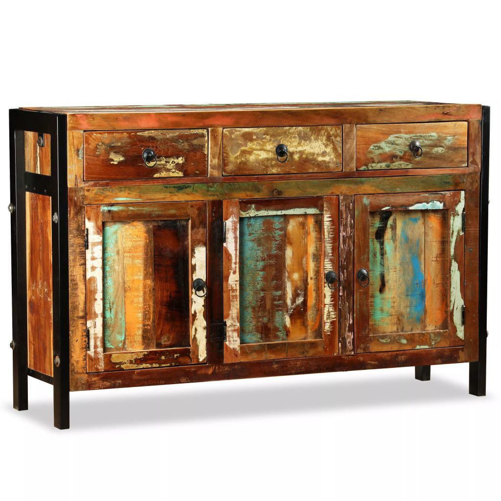 """Picture of Antique-Style Sideboard 47"""" - Solid Reclaimed Wood"""