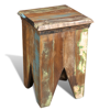 Picture of Antique-Style Stool Hocker Chair - Reclaimed Wood