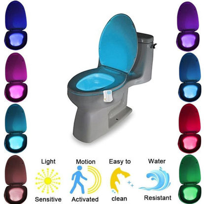 Picture of Automatic LED Motion Activated Night Light Sensor for Toilet Seat