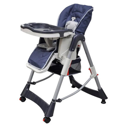 Picture of Baby High Chair Deluxe Dark Blue Height Adjustable