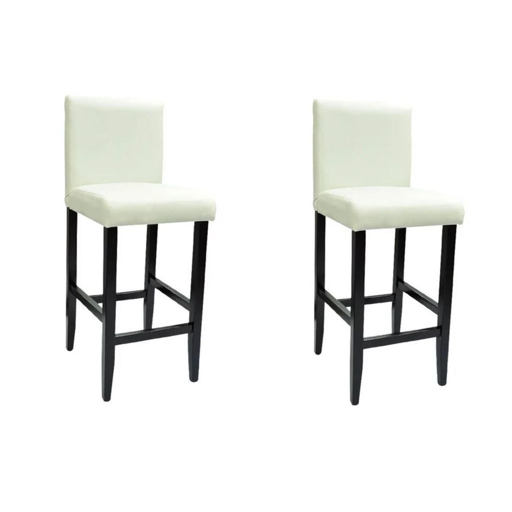 Picture of Bar Stools 2 pcs - White