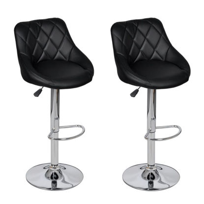 Picture of Bar Stools 2 pcs Black