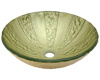 Picture of Bathroom Glass Sink Classic Bowl-Shaped Vessel - Gold Foil