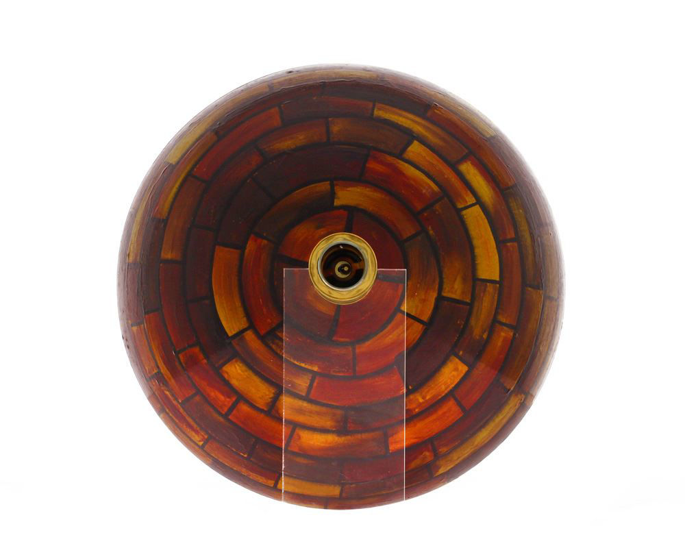Picture of Bathroom Glass Sink Classic Bowl-Shaped Vessel - Stained Glass