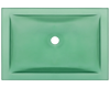 Picture of Bathroom Glass Undermount Sink Rectangular - Green Frosted