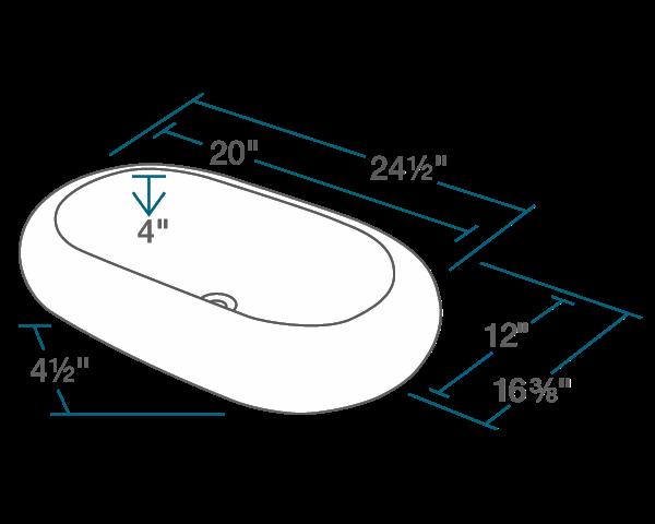 Picture of Bathroom Pillow Top Porcelain Vessel