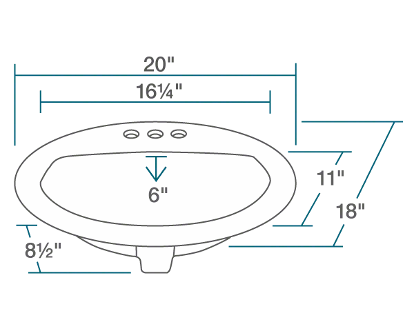 Picture of Bathroom Porcelain Overmount Sink