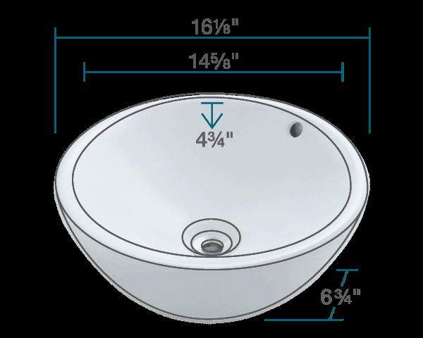 Picture of Bathroom Porcelain Vessel Sink