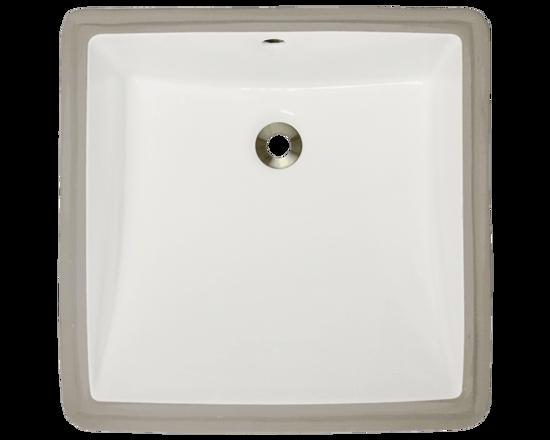 Picture of Bathroom Rectangular Porcelain Undermount Sink