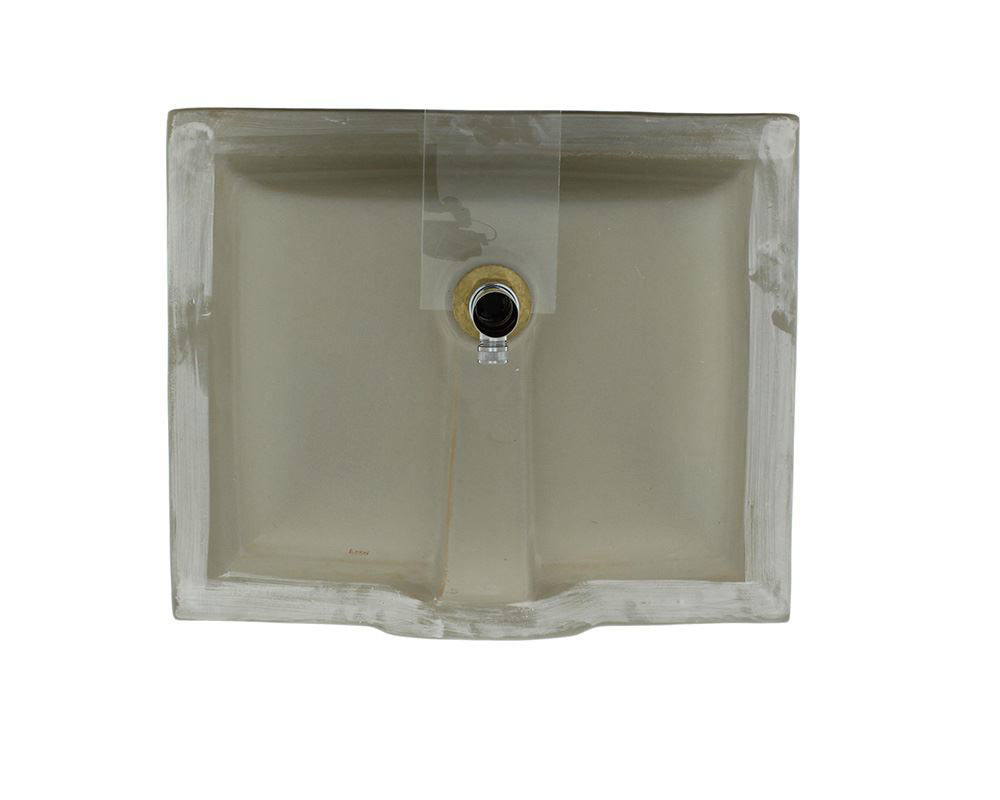 Picture of Bathroom Rectangular Porcelain Undermount Sink