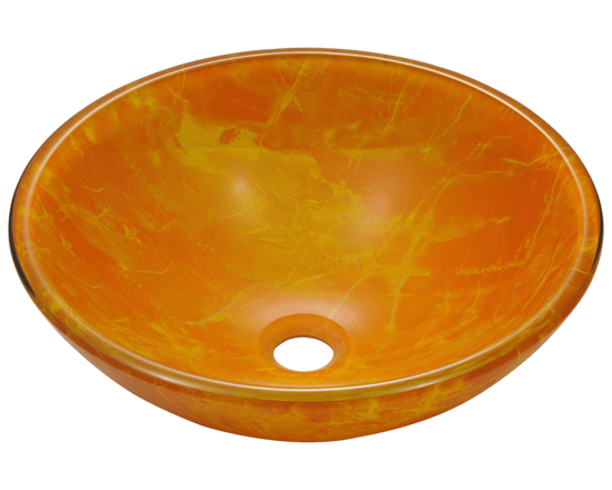 Picture of Bathroom Sink Classic Bowl-Shaped Double-Layer Glass Vessel