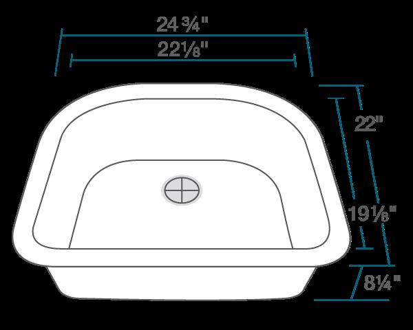Picture of Bathroom Sink D-Bowl AstraGranite