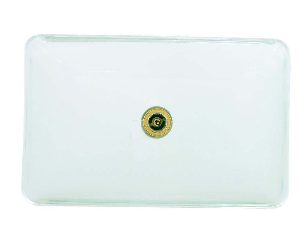 Picture of Bathroom Sink Glass Vessel Rectangular - Clear Glass