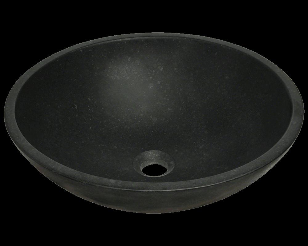 Picture of Bathroom Sink Granite Vessel - Honed Basalt Black