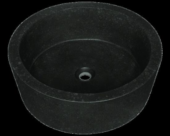 Picture of Bathroom Sink Honed Basalt Black Granite Vessel