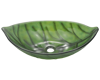 Picture of Bathroom Sink Leaf-Shaped Bowl Vessel - Colored Glass